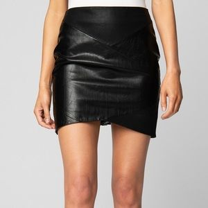 Blank NYC • NWT Black Sable Vegan Leather Skirt